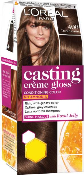 L'Oréal Paris Casting Creme Gloss Hair Color Small Pack , 400 Dark Brown