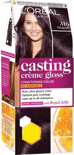 L'Oréal Paris Casting Creme Gloss Hair Color Small Pack , 316 Burgundy