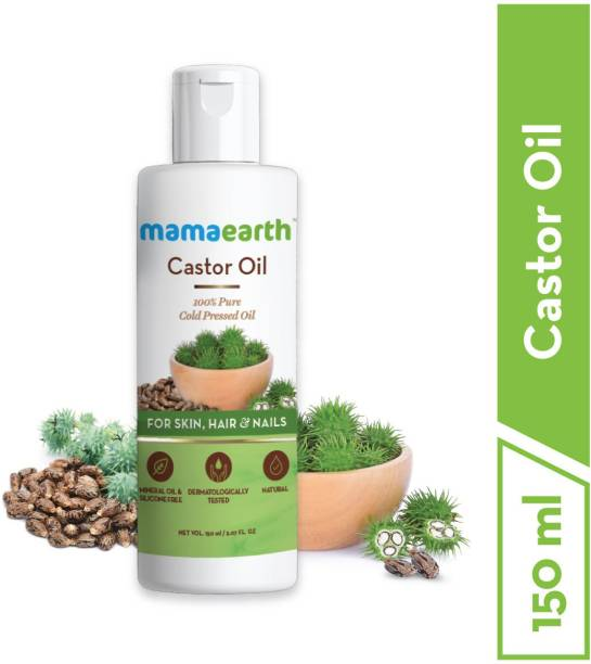 MamaEarth 100% Pure Castor Oil, Cold Pressed, To Support Hair Growth Hair Oil