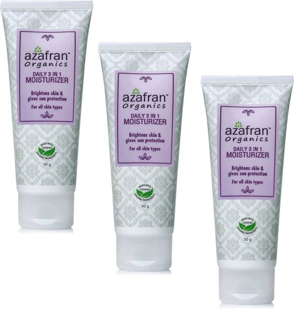 Azafran Daily 3 in 1 Moisturizer pack of 3
