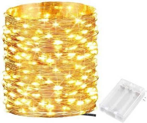 MANSAA 196.85 inch Gold, Yellow Rice Lights