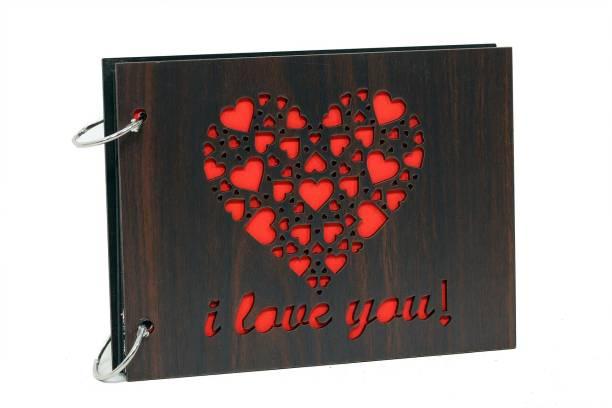 Khatu Crafts Wooden Engraved Album