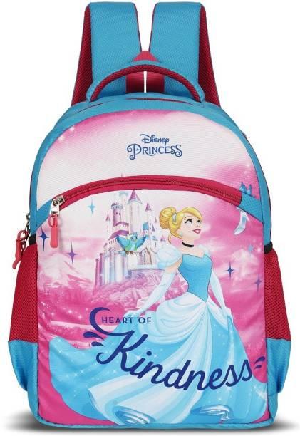 Priority Disney Princess Blue School Bag Kids Casual Backpack for Girls School Bag