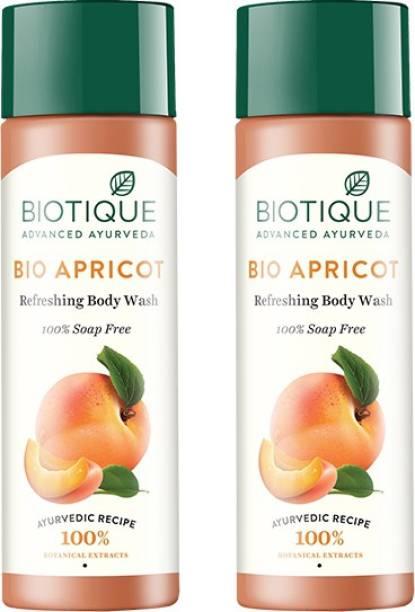 BIOTIQUE Bio Apricot Refreshing Body Wash 380ml (Pack of 2)