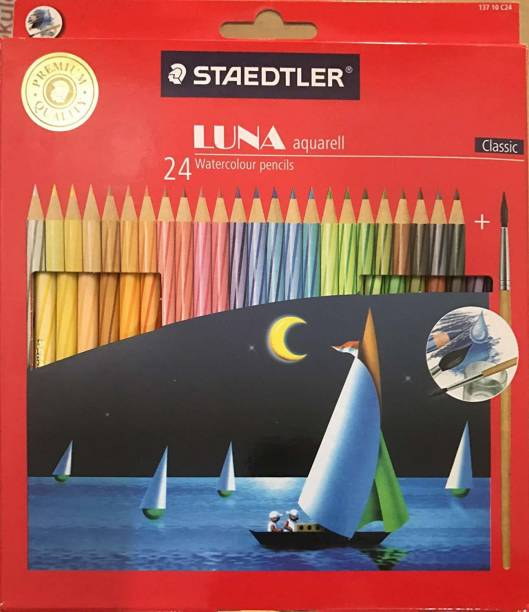 STAEDTLER Luna Classic 24 Color Water Round Shaped Color Pencils
