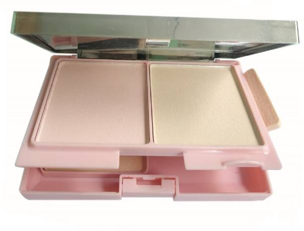 THTC 3 in 1 Compact Powder Fantastic Color Land For a Proffessional Makeup  Compact