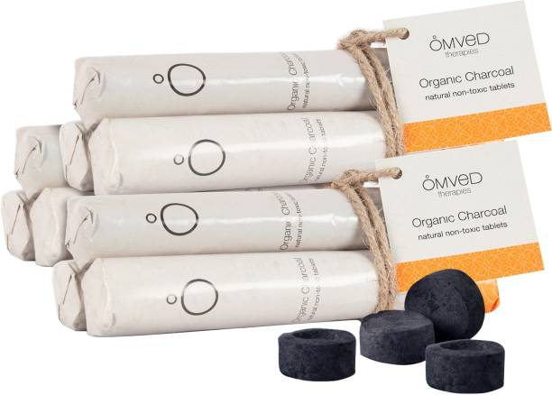 Omved Organic Natural Non-Toxic Charcoal Tablets Dhoop