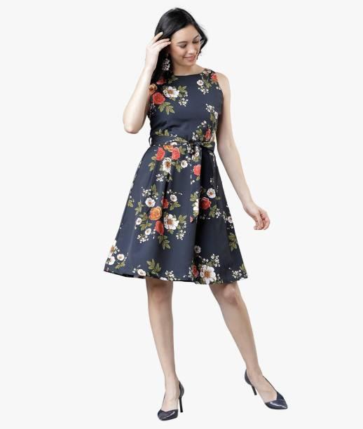 Tokyo Talkies Women A-line Black Dress