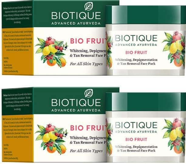 BIOTIQUE Bio Fruit Whitening & Depigmentation (Pack Of 2)