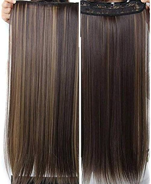 VinshBond 5 Clips Golden Highlighter Straight  Extensions for Womens girls /  wig  Accessories Hair Extension