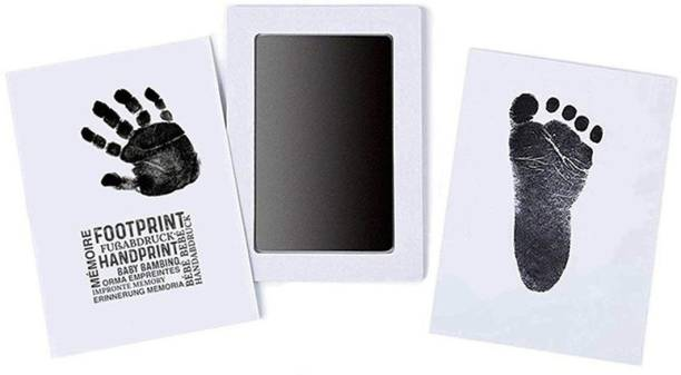 Grab Classy Baby Handprint and Baby Footprint Ink Pad with Imprint Cards Album