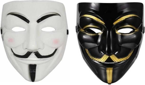 Stardom style Vendetta Character Mask, Black & White Party Mask