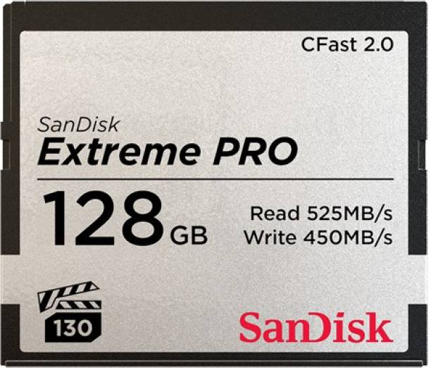 SanDisk Extreme Pro 128 Compact Flash Class 10 525 Mbps  Memory Card