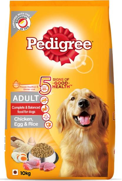 PEDIGREE High Protein Variant Rice, Egg, Chicken 10 kg Dry Adult Dog Food