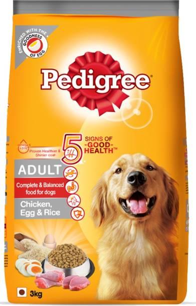 PEDIGREE High Protein Variant Rice, Egg, Chicken 3 kg Dry Adult Dog Food