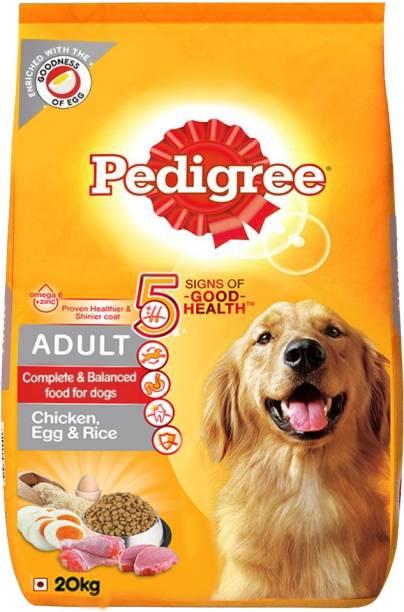 PEDIGREE (High Protein Variant)Egg, Rice Chicken 20 kg Dry Adult Dog Food
