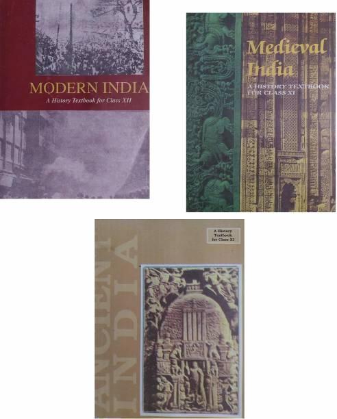 3 OLD NCERT HISTORY BOOKS (1) Ancient India- RS Sharma (Class-11) (2) Medieval India - Satish Chandra (Class-11) (3) Modern India - Bipin Chandra (Class-12)