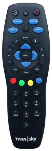 Tata Sky Tatasky 03 Dth Univeral SD / HD Set Up Box Remote Controller with Batteries (Black) Tatasky Remote Controller