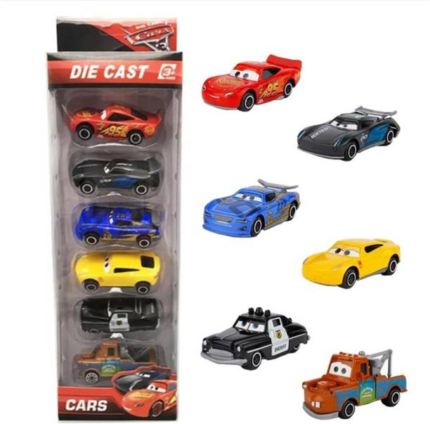 Mickleys Pack of 6 Die Cast metal Body High Speed Push & go Car Toy for Kids