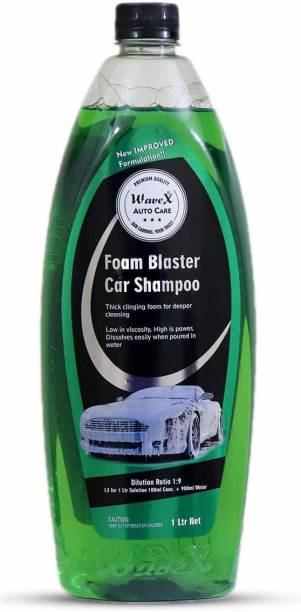 Wavex Foam Wash Car Shampoo Concentrate 1Ltr pH Neutral, Super Suds, Highly Effective on Dust and Grime Car Washing Liquid
