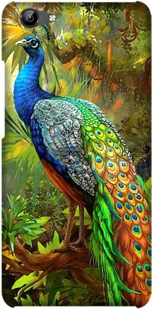 CASEMANTRA Back Cover for Vivo Y71, Vivo 1724, Vivo 1801i -peacock