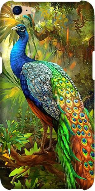 CASEMANTRA Back Cover for Oppo A71, CPH1717 - peacock Print