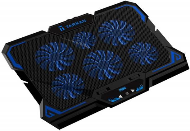 TARKAN 6 Fans Powerful LED Cooling Pad for 13 to 17 Inch Laptops 4 Fan Cooling Pad