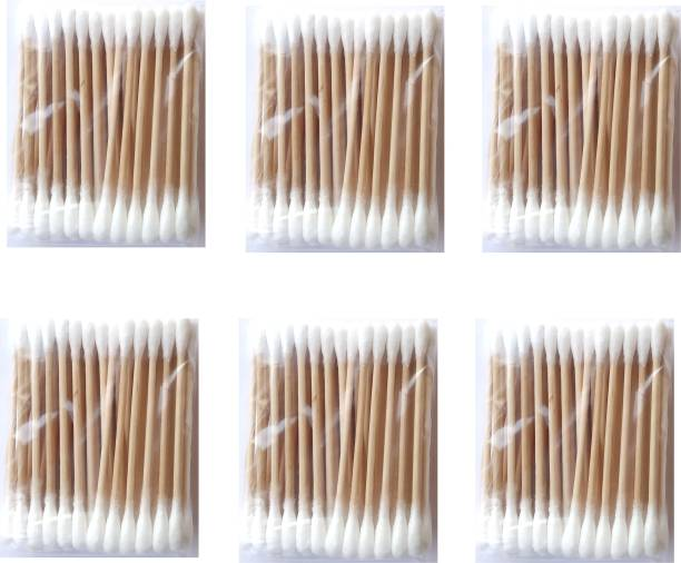 Face8Teen Pure Cotton Buds For Ear & Makeup, Travel Pack Swabss & Wooden Stem