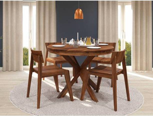 DriftingWood Solid Wood 4 Seater Dining Set