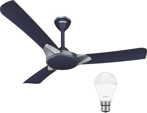 LUMINOUS Copter with 9 W Round B22 D LED 1200 mm 3 Blade Ceiling Fan