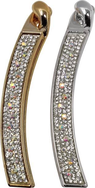 Evogirl Hair Clip Premium Diamond Banana Shaped Accessories comes in pack of 2 Banana Clip