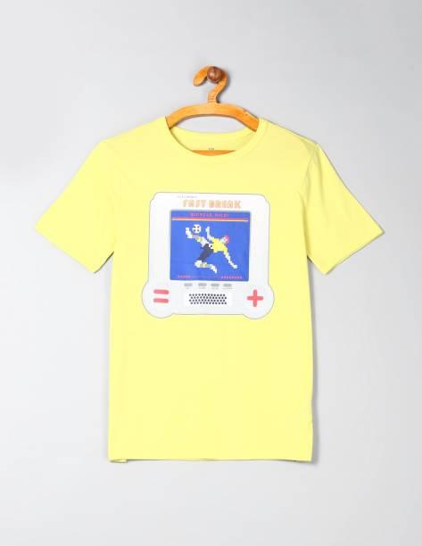 GAP Boys Printed Cotton Blend T Shirt