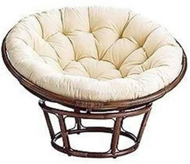IRA Cane Papasan Folding Chair with Cushion Cane Outdoor Chair