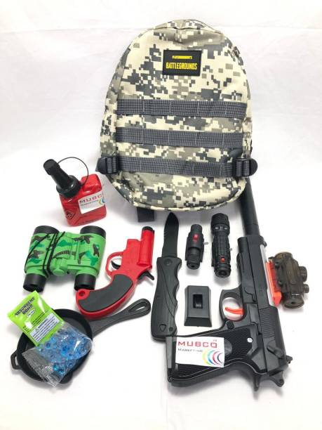 Mubco PUBG Players Unknown Battleground | Level 3 Backpack Set Pistol, Flare Gun Armor Sets