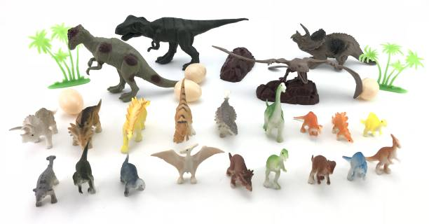 Miss & Chief Dinosaur Box with Handle 30 - Pieces