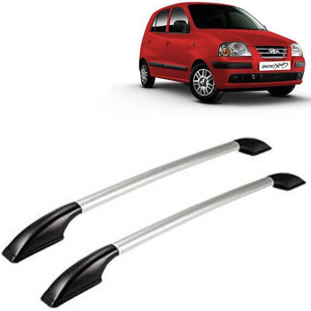 VOCADO Exclusive Car Stylish Drill free Roof Rails Black & Silver For Maruti Santro Xing Car Beading Roll For Bumper, Grill and Garnish Cover, Window