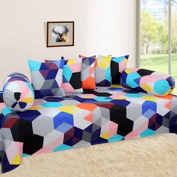 Chattar Cotton Geometric Diwan Set