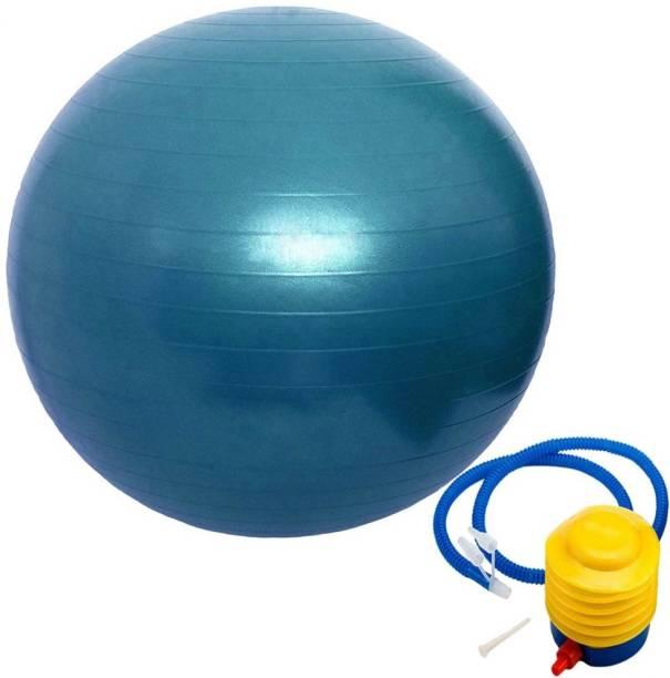 Dayalu Gym Ball Anti Burst with Foot Pump for Yoga and Exercise Gym Ball (With Pump) Gym Ball