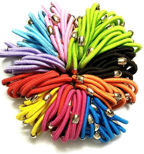 ANNA CREATIONS HEART SHAPE Ponytail Holders Hair Elastic Rubber Bands Rubber Band
