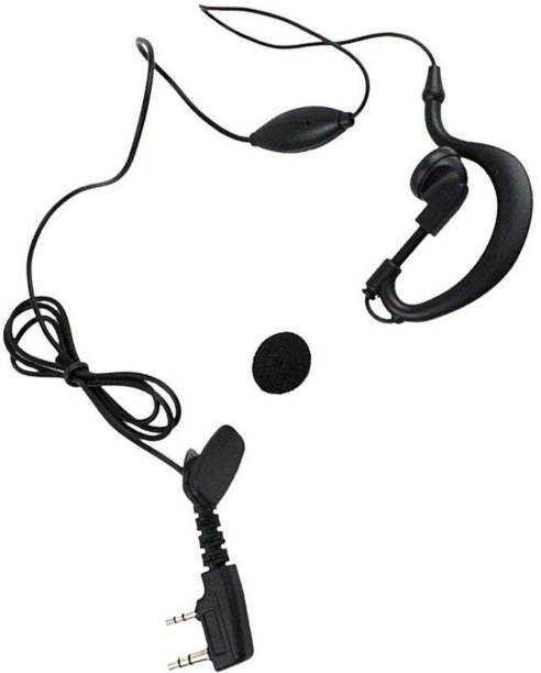 Inext 2-pin K Type Earphone with Mic for Walkie Talkie (20 Piece) Wired Headset