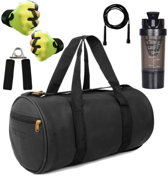 5 O' CLOCK SPORTS Combo Set Enclosed With Soft Leather Gym Bag For Men Fitness222 Gym & Fitness Kit