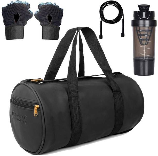 5 O' CLOCK SPORTS Combo Set Enclosed With Soft Leather Gym Bag For Men Fitness119 Gym & Fitness Kit