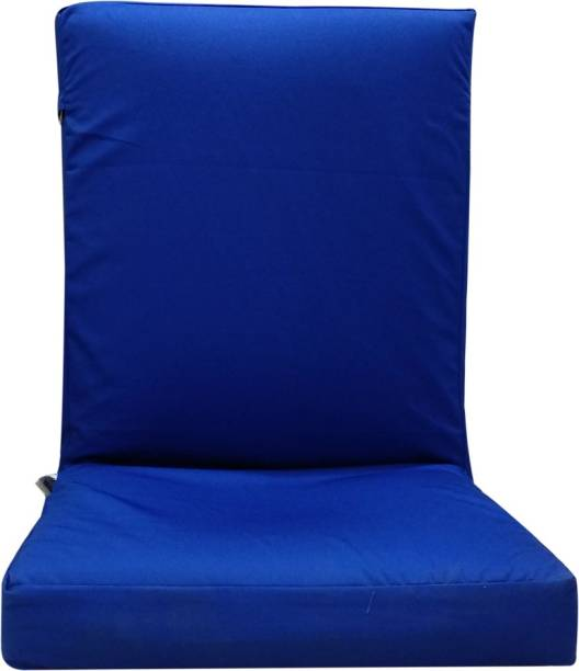 KAWACHI Adjustable Back Support Relax Recliner�Floor�Chair Sofa with Cushion I116 Blue Floor Chair