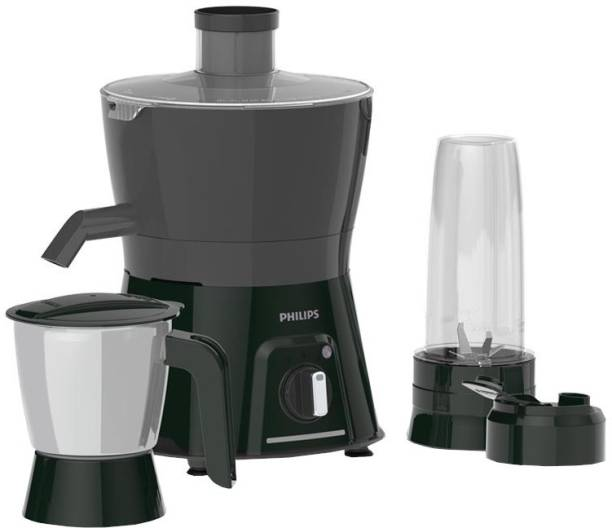 PHILIPS Viva Collection HL7579/00 600 W Juicer Mixer Grinder (3 Jars, Black, Grey)