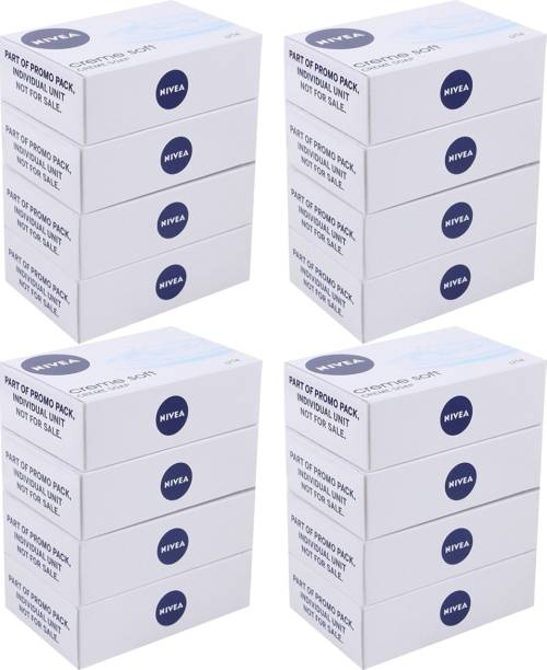 NIVEA Creme Soft Soap Pack Of 16 Bars (125 gms each)