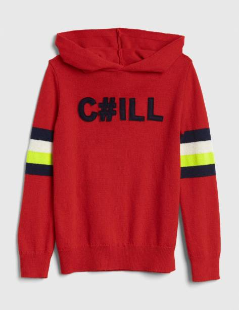 GAP Applique Casual Boys Red Sweater