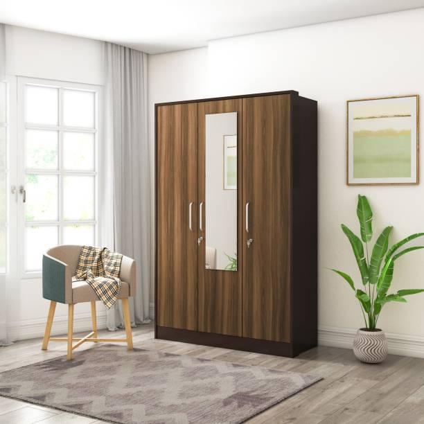Flipkart Perfect Homes Choral Engineered Wood 3 Door Wardrobe