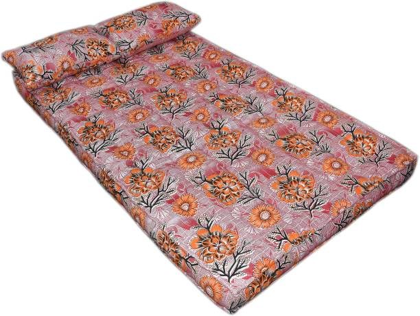 Bhooom Kapok ilavam Panju Orange 4 inch King Fiber Mattress