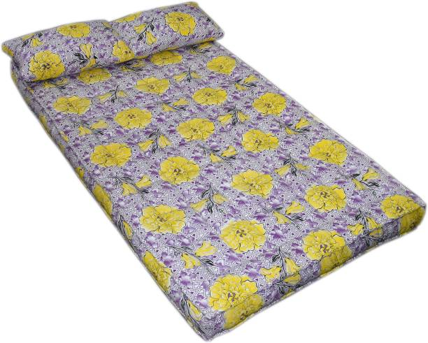 Bhooom Kapok ilavam Panju Yellow 6 inch Double Fiber Mattress