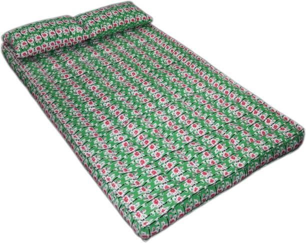 Bhooom Kapok ilavam Panju Green 6 inch King Fiber Mattress
